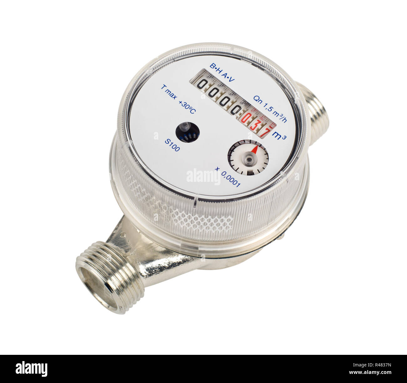 Water meter cutout - Stock Image