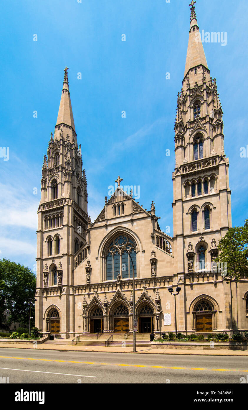 Saint Paul Cathedral is the mother church of the Roman Catholic Diocese of Pittsburgh in Pittsburgh, Pennsylvania, USA - Stock Image