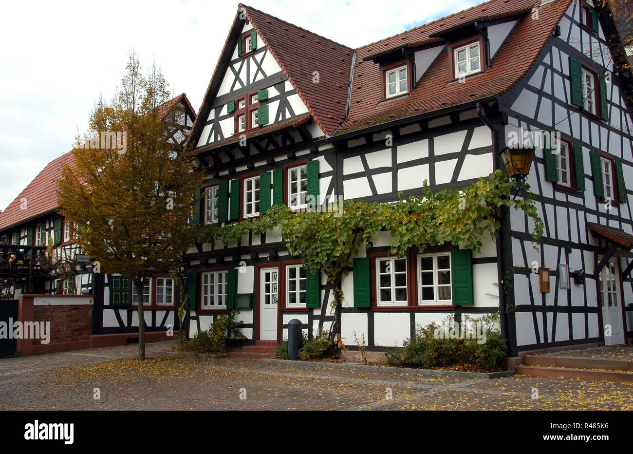 half-timbered house in kandel,today vhs Stock Photo