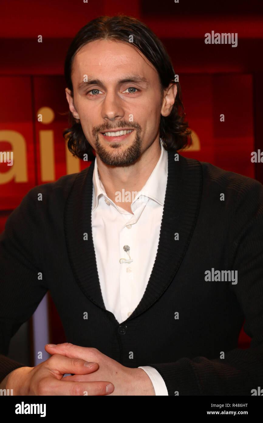 Neven Subotic, Hart aber Fair, WDR Fernsehnstudio B, Koeln, 18.04.2016 - Stock Image