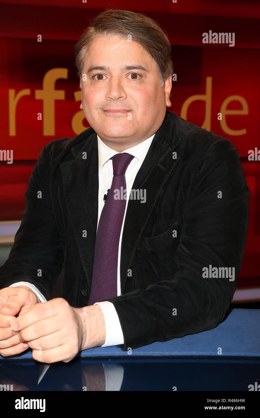 Mehmet Daimagueler, Hart aber Fair, WDR Fernsehnstudio B, Koeln, 18.04.2016 - Stock Image