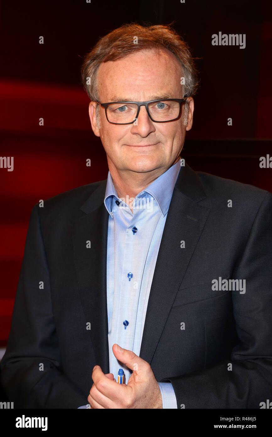 Frank Plasberg, Hart aber Fair, WDR Fernsehnstudio B, Koeln, 18.04.2016 - Stock Image