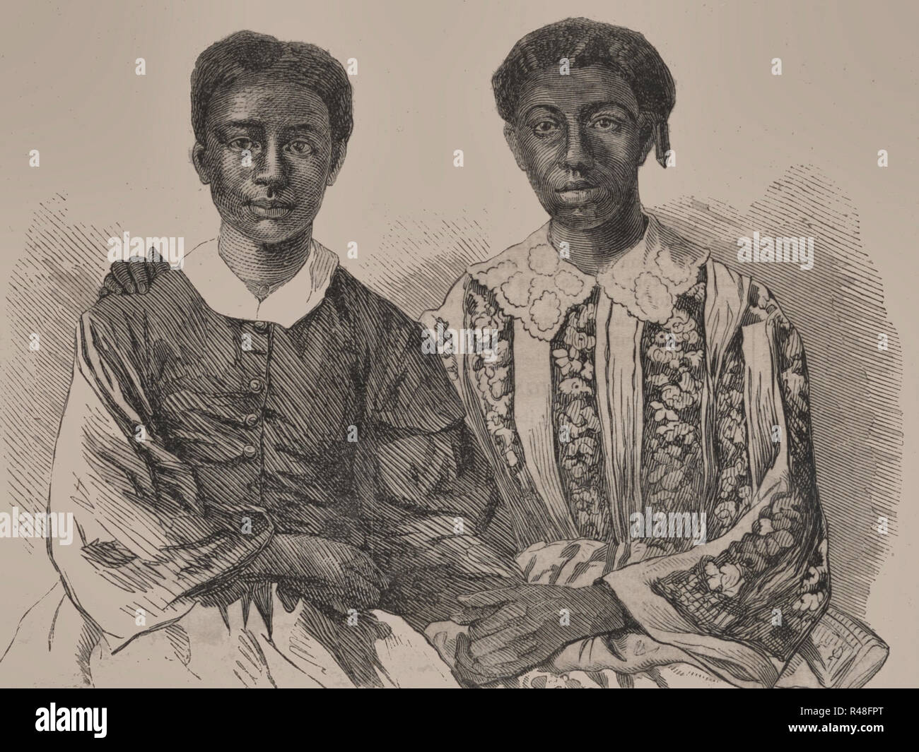 Eliza and Lizzy, Children of Dred Scott - Stock Image