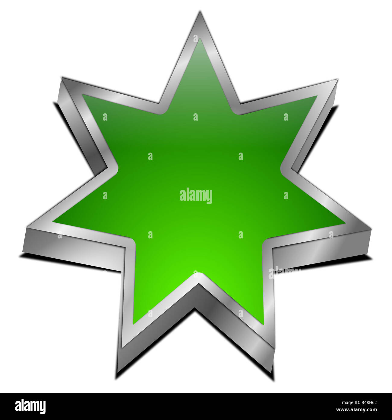 Star button - Stock Image