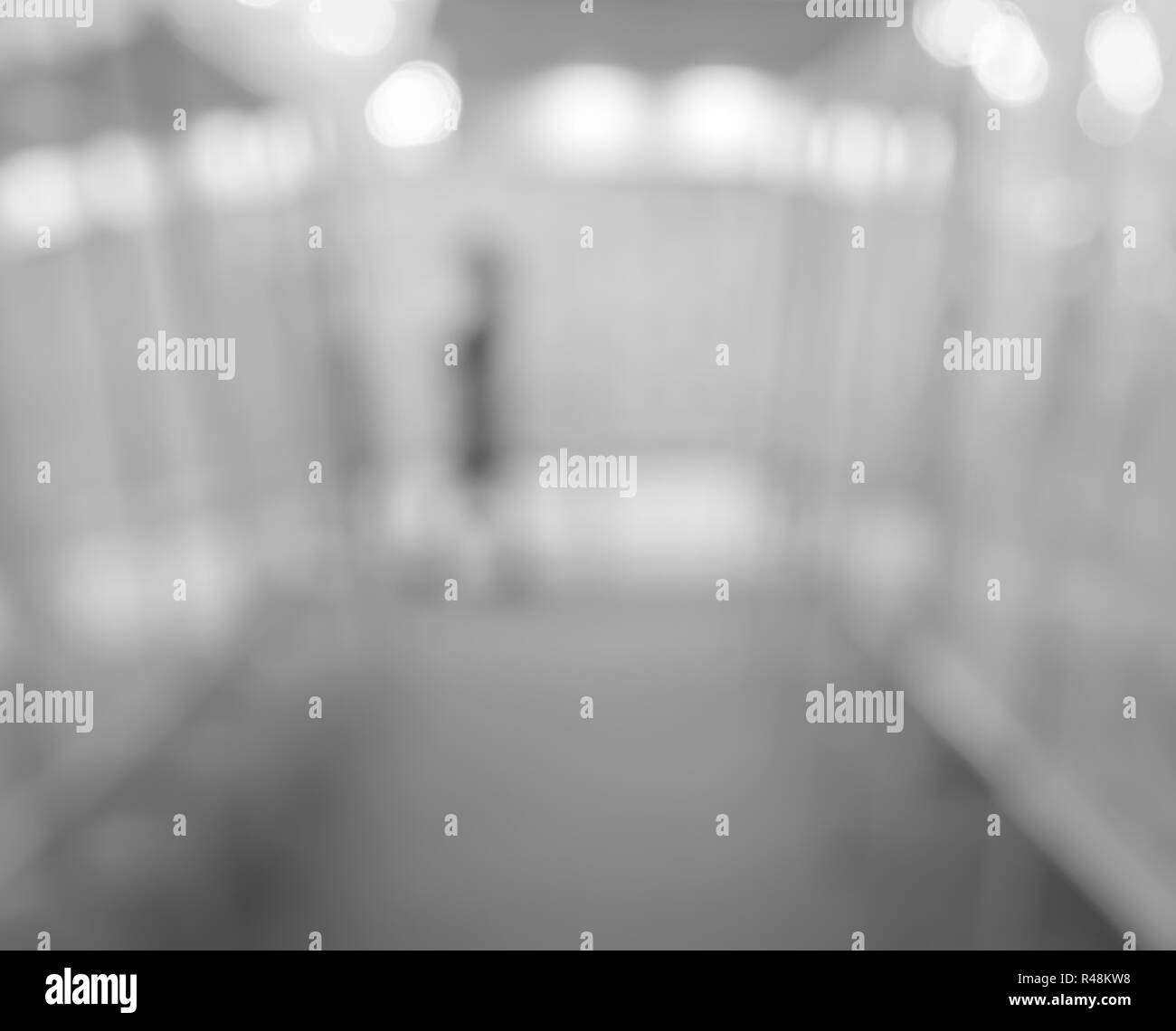 Abstract blurred art gallery - Stock Image
