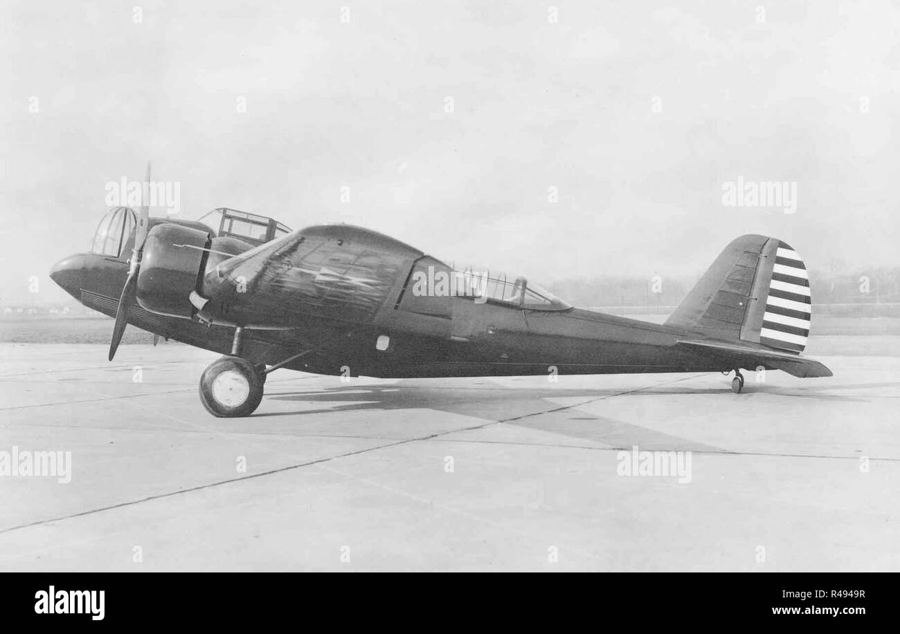 A Martin YB-10 service test bomber with the USAAC - the first flight of the B-10 design occurred in mid-February 1932. - Stock Image