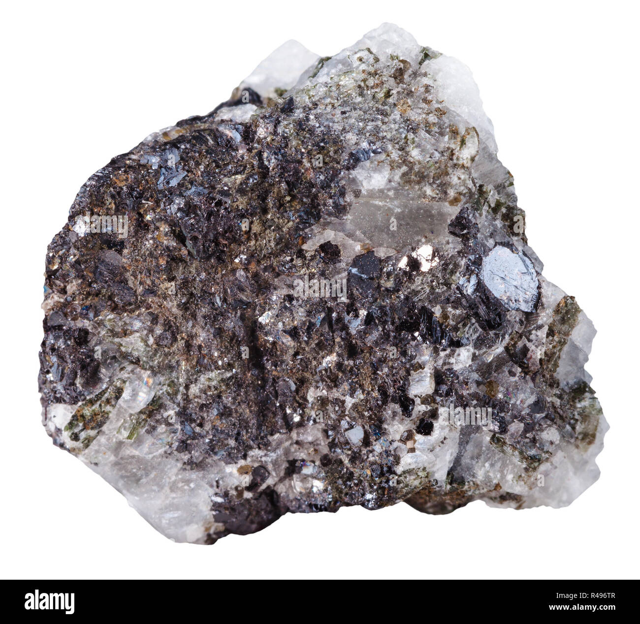 pebble of Sphalerite (zinc blende) mineral stone - Stock Image