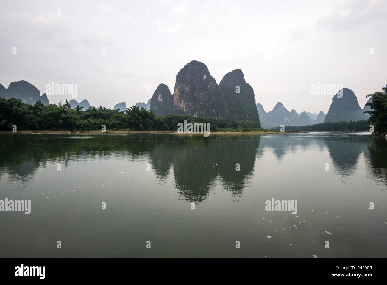 xingping morning reflection Stock Photo