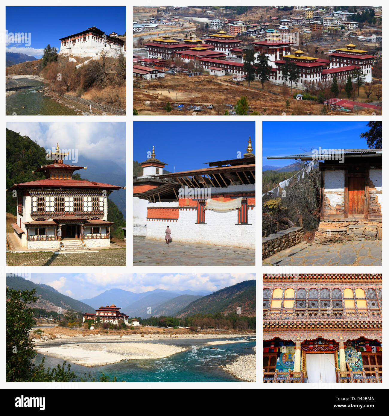 Impressions of Bhutan - Stock Image