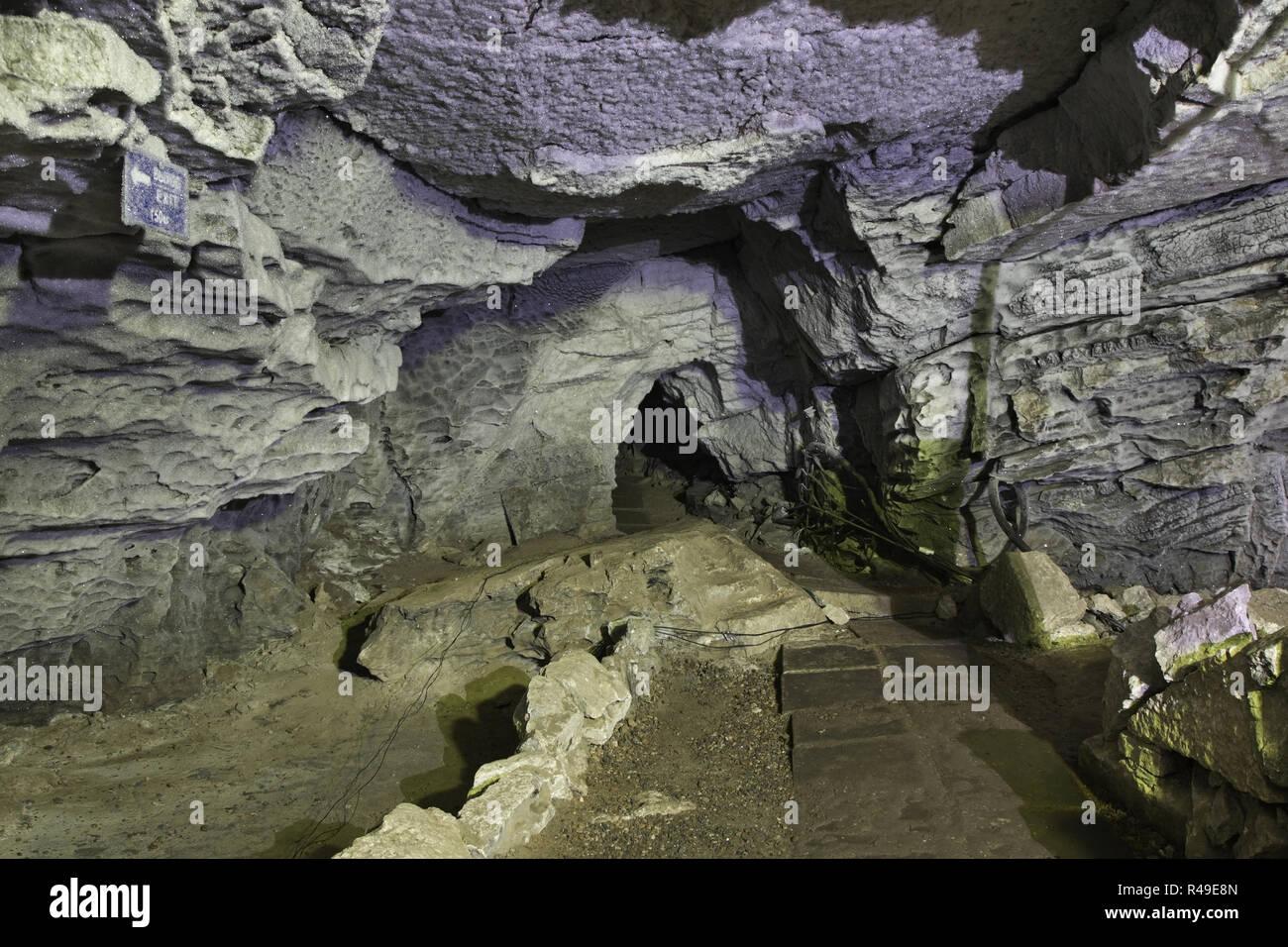 Kungur Ice Cave. Perm Krai. Russia - Stock Image