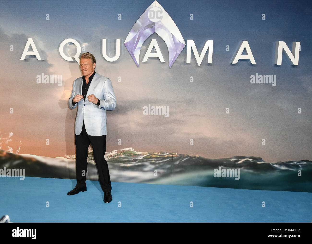 London, UK. 26th November, 2018. Dolph Lundgren arrives at Aquaman - World Premiere at Cineworld Leicester Square on 26 November 2018, London, UK. Credit: Picture Capital/Alamy Live News - Stock Image