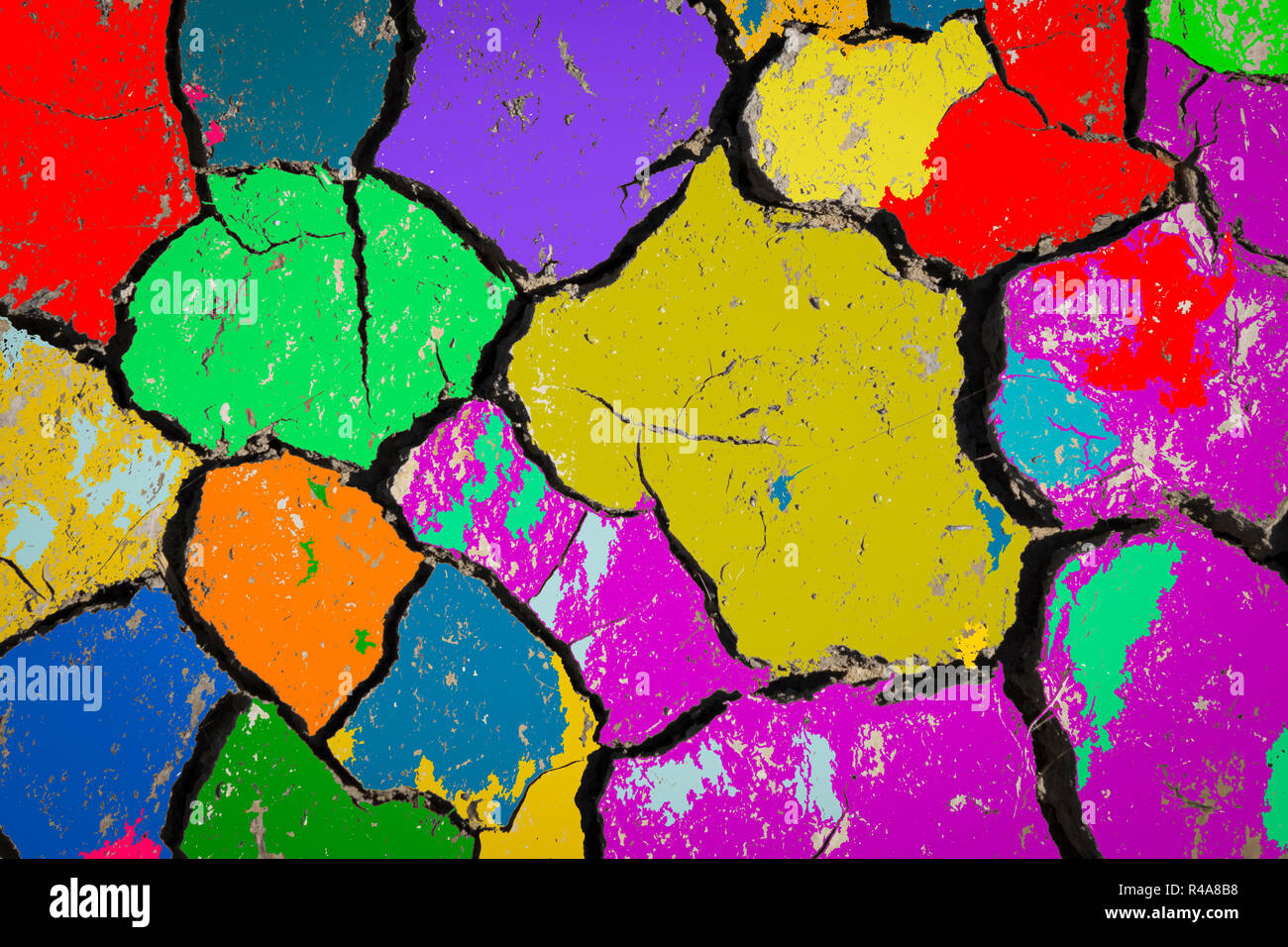 painting on soil  Abstract art background    Fragment of