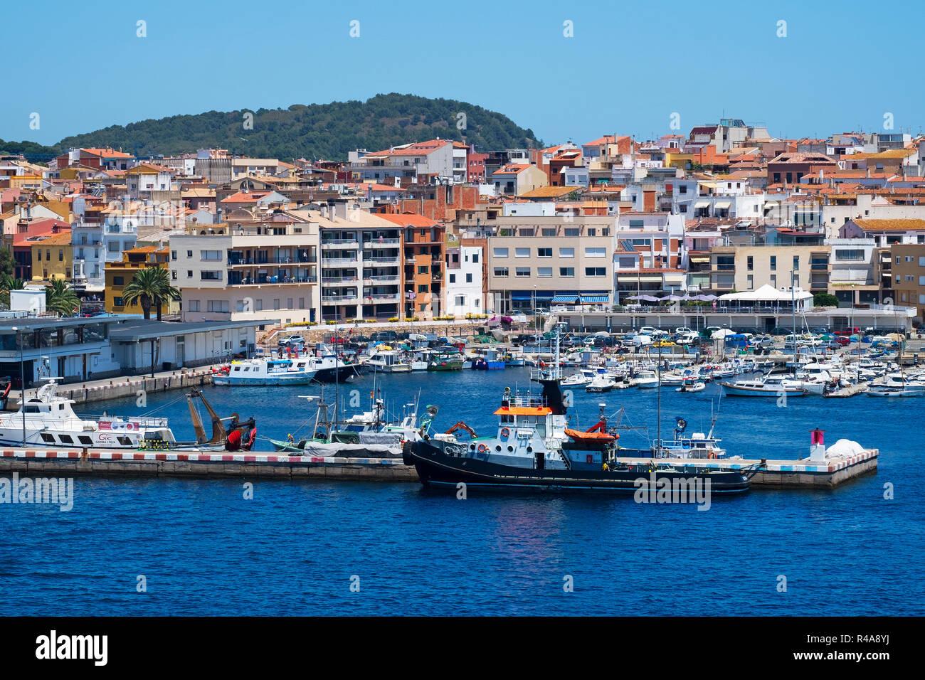 Hotels And Apartments Around The Harbor Marina At Palamos Girona