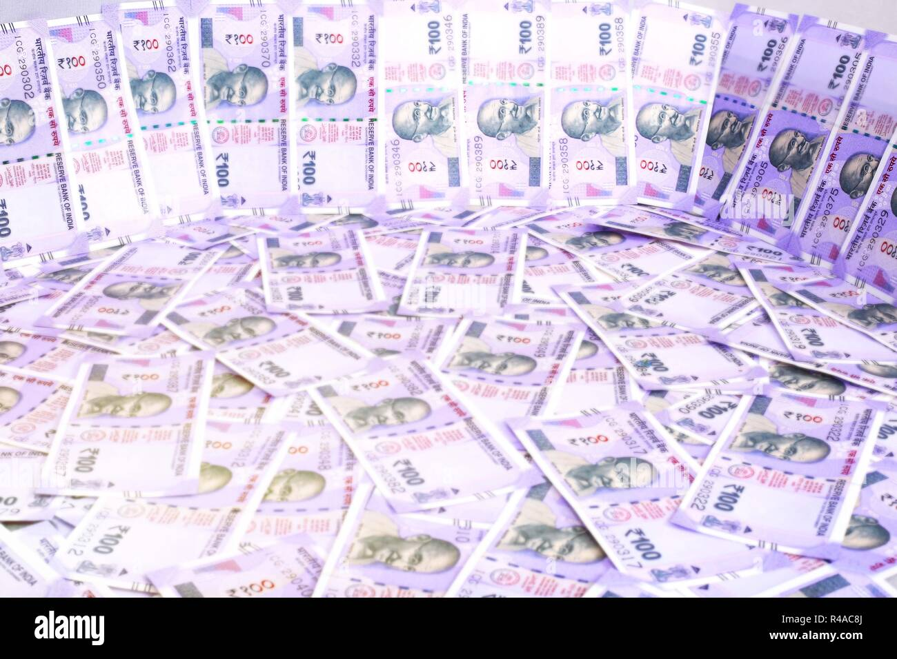 Picture of Indian money. Isolated on the white background. Stock Photo