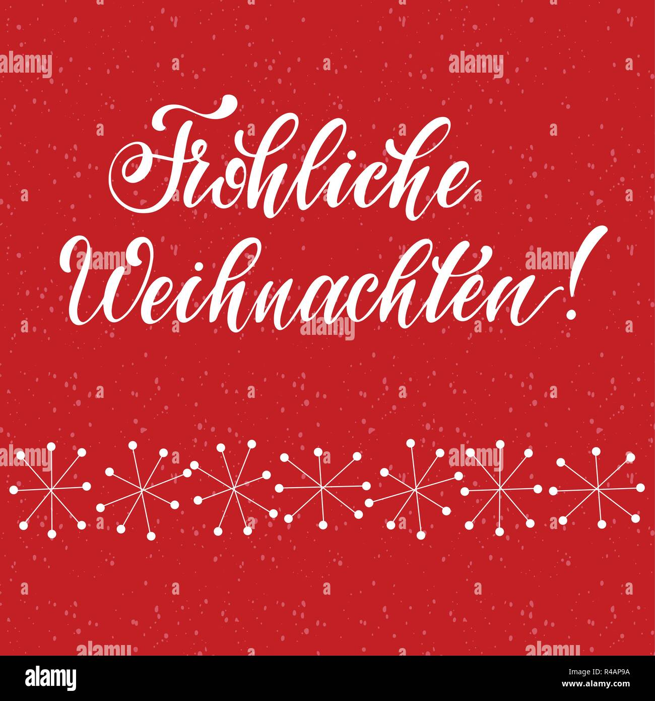 E Cards Weihnachten.Merry Christmas Lettering On German Language Elements For