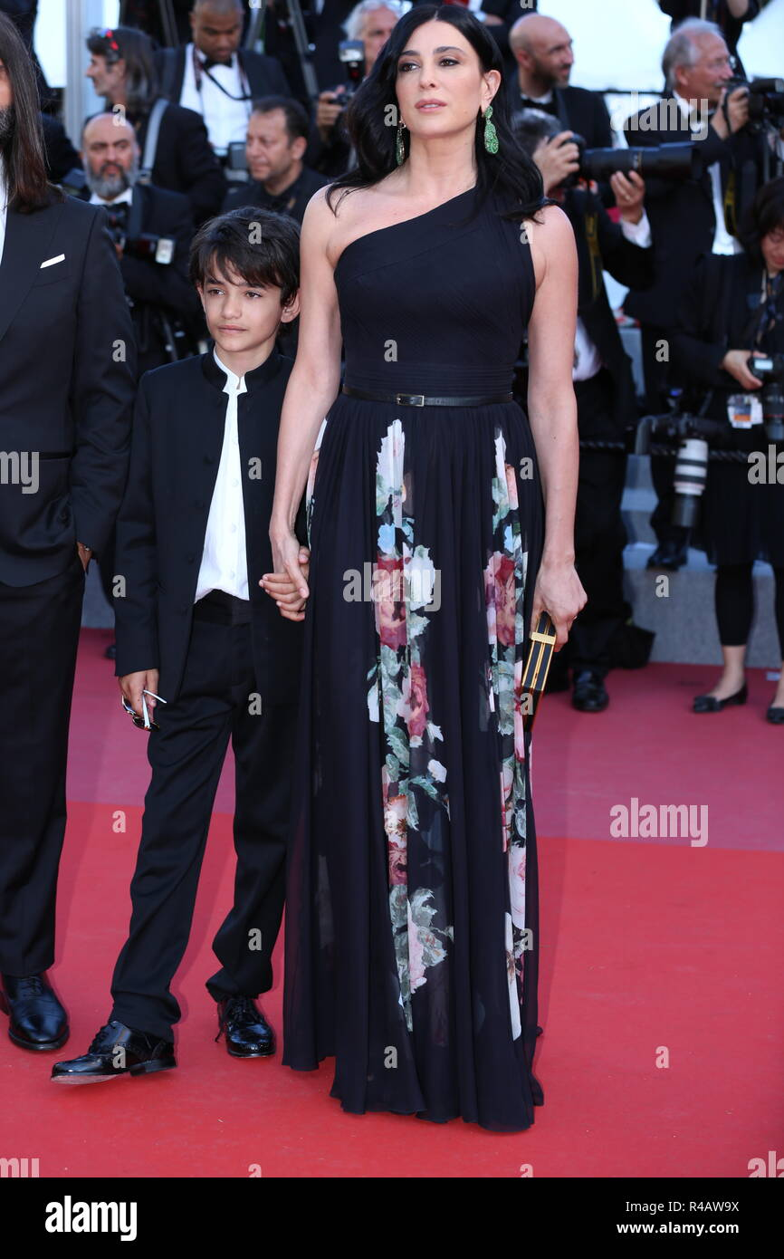 CANNES, FRANCE – MAY 19, 2018: Nadia Labaki walks the red carpet at 'The Man Who Killed Don Quixote' screening at the 71st Festival de Cannes - Stock Image