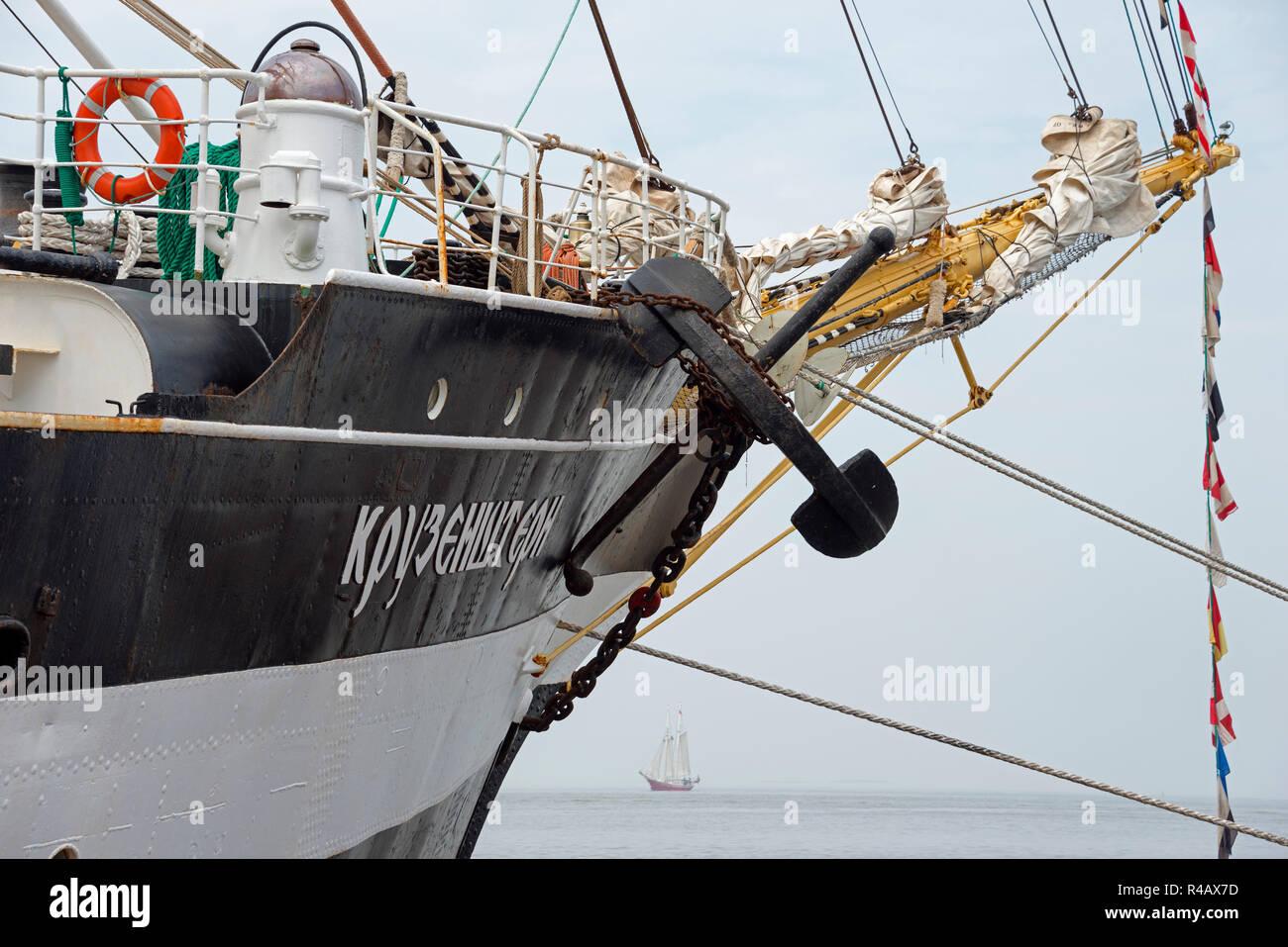 Kruzenshtern, Sailing ship, Bremerhaven, Lower Saxony, Germany - Stock Image