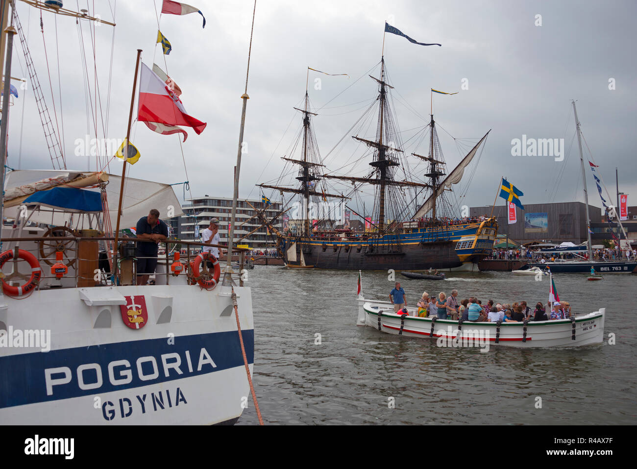 Sailing ships, Bremerhaven, Lower Saxony, Germany - Stock Image