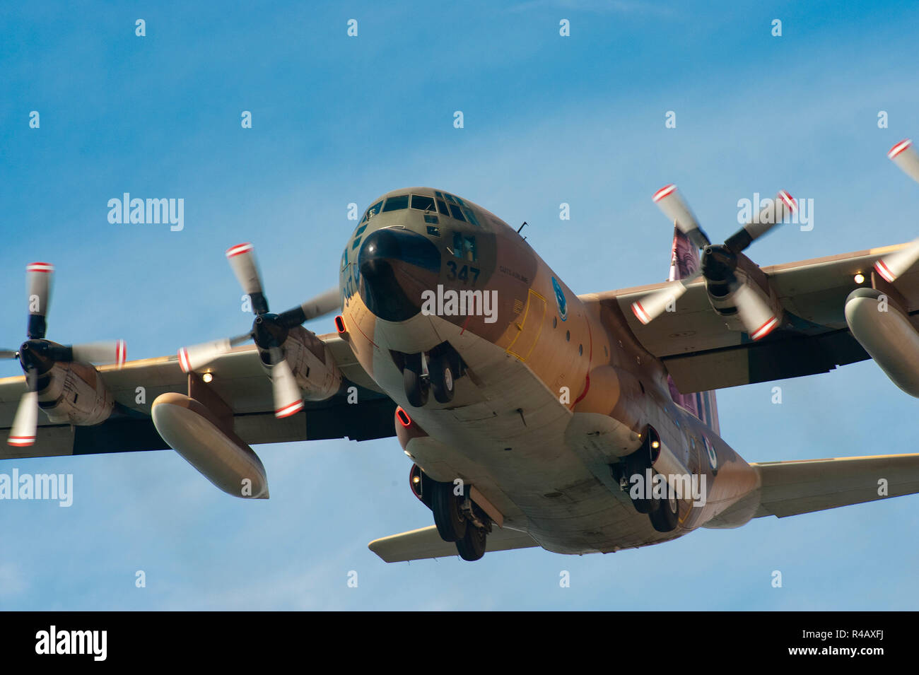 C-130 Hercules, military airplane, Royal Jordanian Navy, airshow, transportation airplane, Aqaba, Jordan, Asia - Stock Image