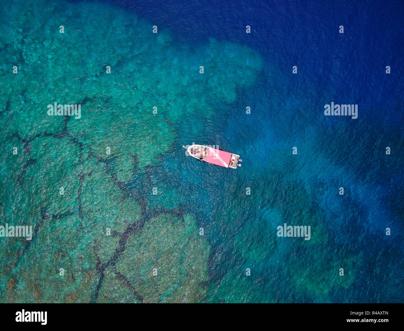 Yap Island, southern end, lagoon, Yap, Caroline Islands, Federal States of Micronesia - Stock Image
