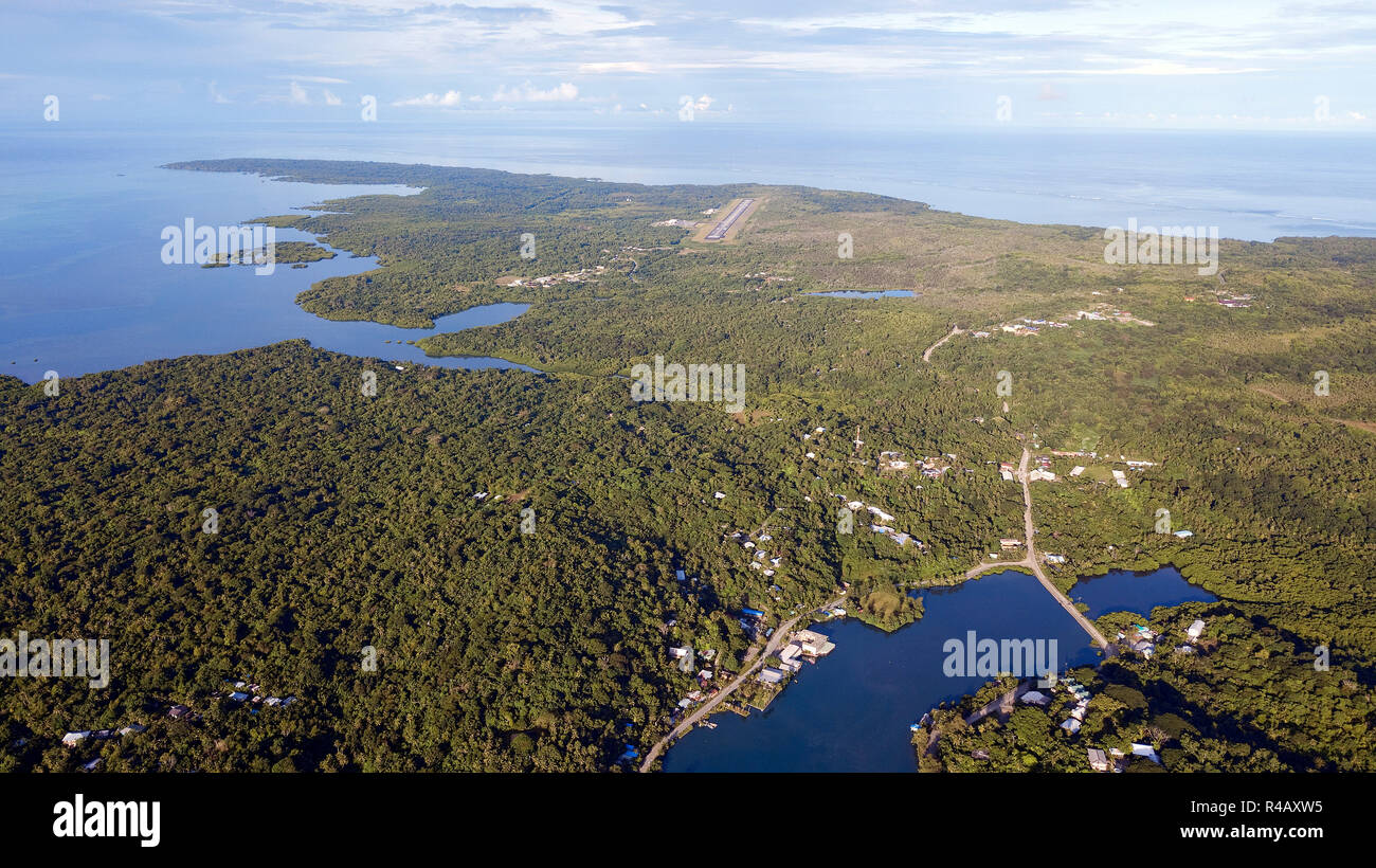 Yap Island, drone photography, Caroline Islands, Federal States of Micronesia - Stock Image