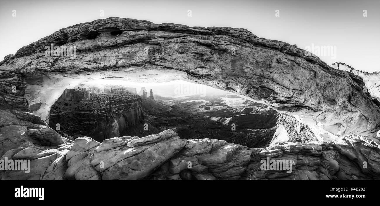 Mesa arch,Canyonland National park  when sunrise,Moab,Utah,usa. - Stock Image