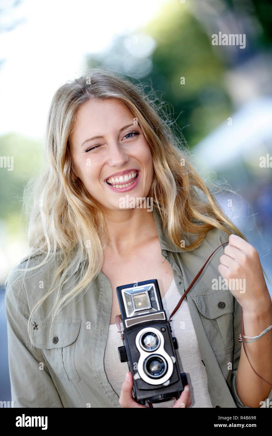 Blond amateur