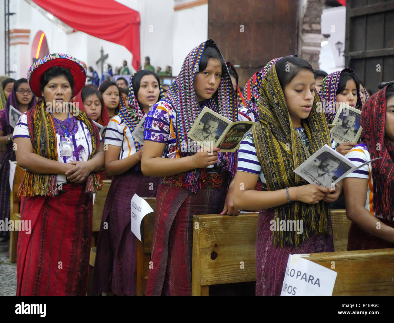GUATEMALA  Ceremonies concerning the beatification of Father Stanley Francis Aplas Rother, who was murdered in 1981, at Santiago de Atitlan. - Stock Image