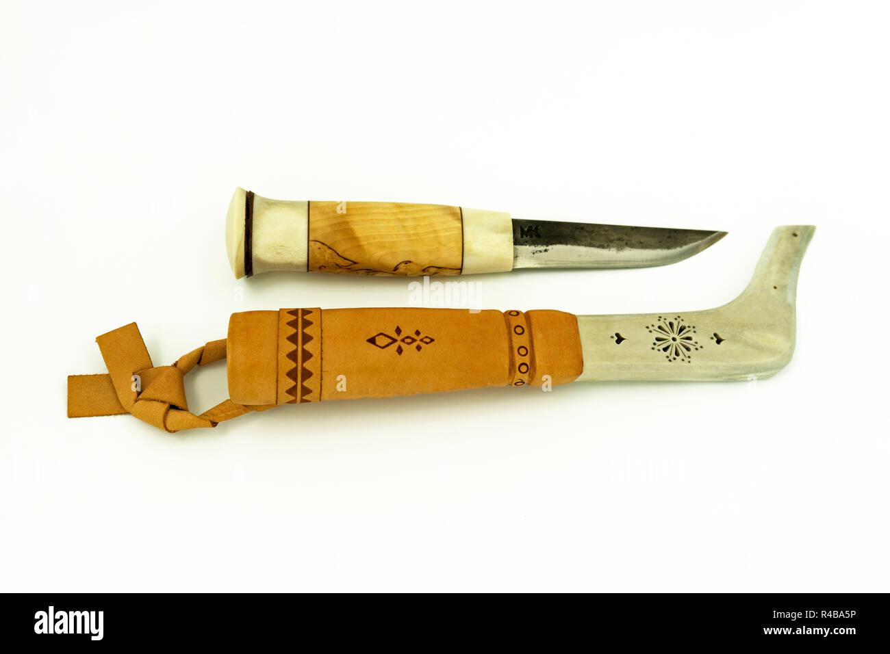 Lapland knife - Stock Image