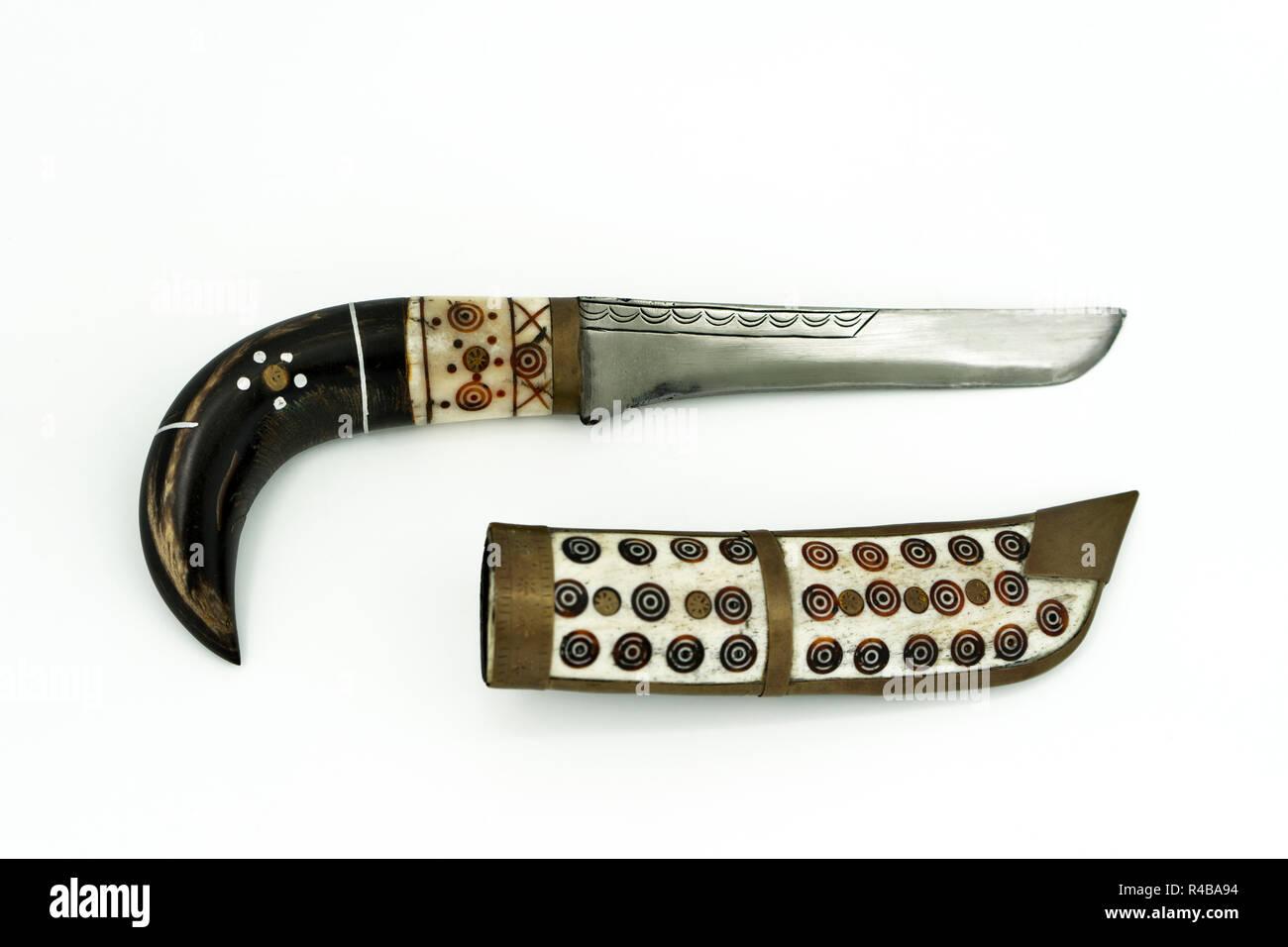 Thibetan knife - Stock Image