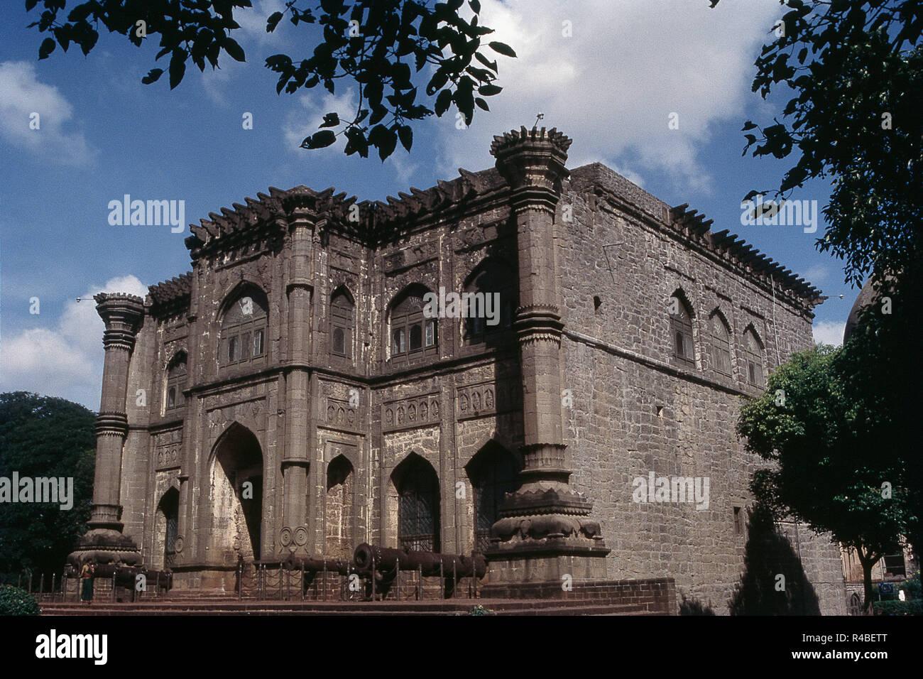 Exterior of Nagar khana museum, Bijapur, Karnataka, India, Asia - Stock Image