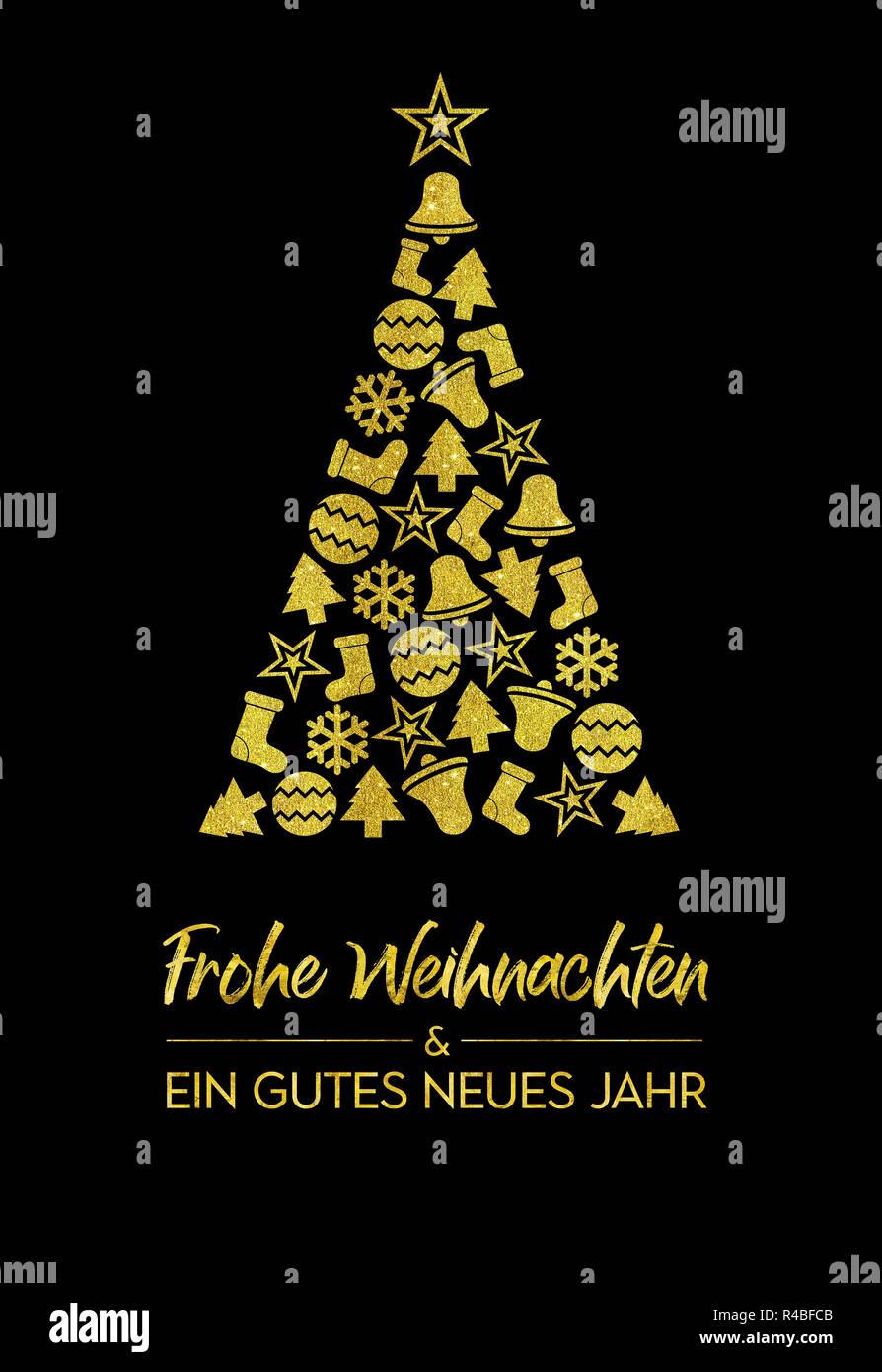 Frohe Weihnachten Und Happy New Year.Greeting Card Frohe Weihnachten Und Ein Gutes Neues Jahr Merry
