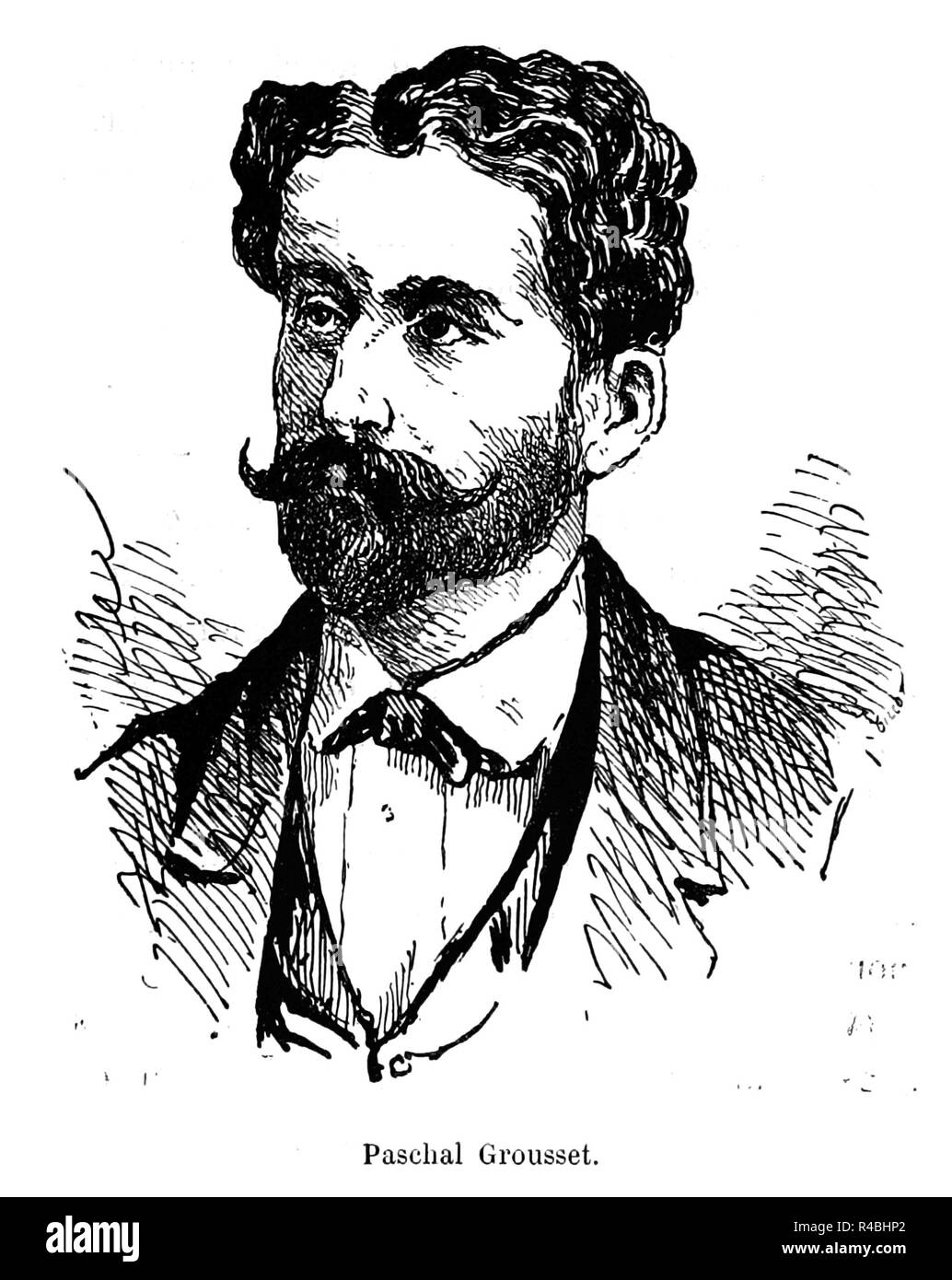 PASCHAL GROUSSET (1844-1909) French politician and science fiction writer under several pen names - Stock Image