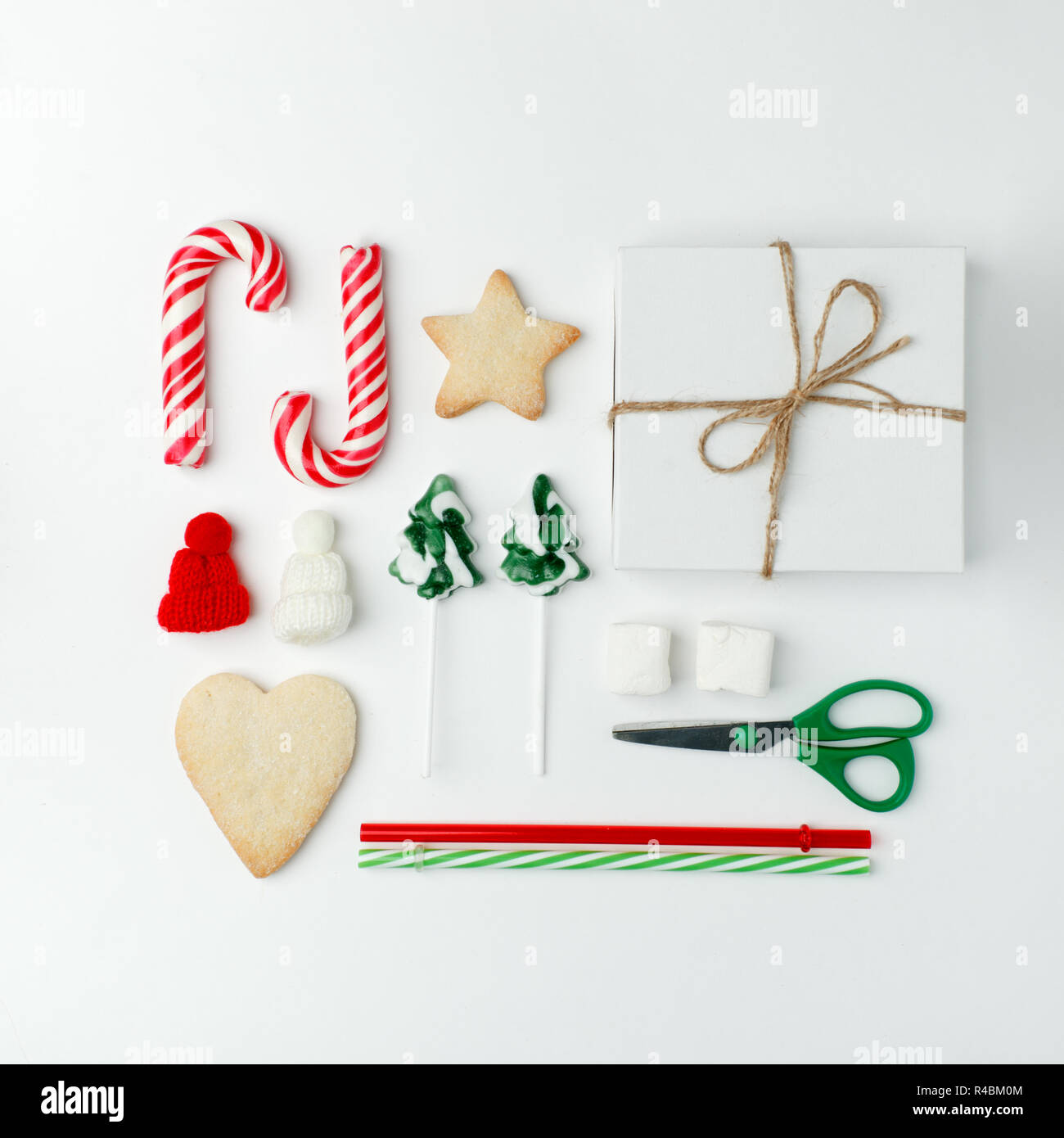 Christmas Decorations And Objects For Mock Up Template Design
