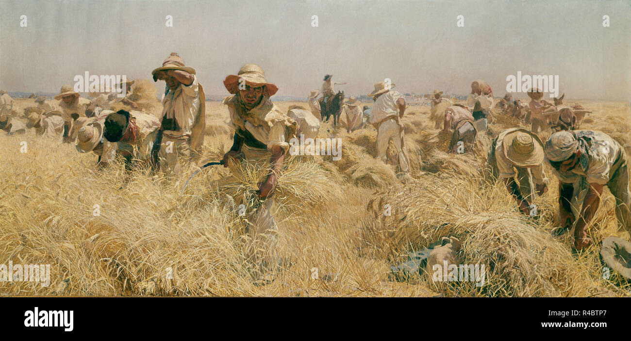 MEN MOWING FIELD WITH SCYTHE 1875 FIELD FARM WORK LABOR ANTIQUE ENGRAVING
