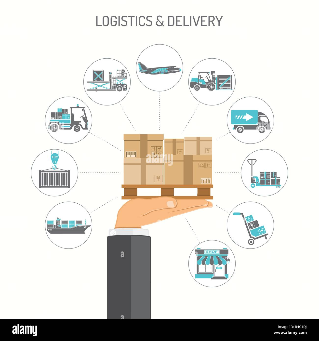 Logistics and Delivery Concept - Stock Image