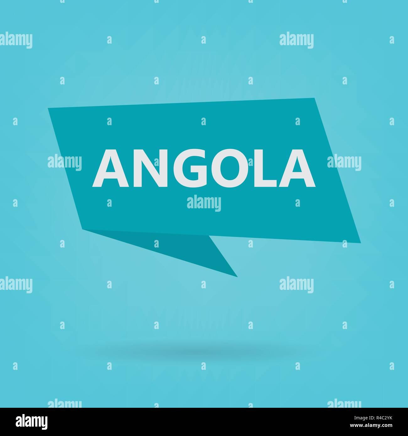 Angola word on a speech bubble- vector illustration - Stock Vector