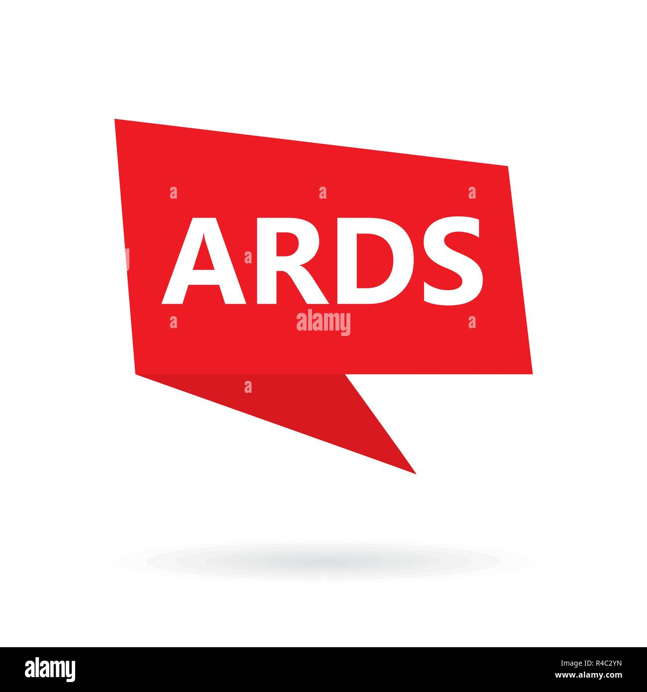 ARDS (Acute Respiratory Distress Syndrome) acronym on a speach bubble - Stock Vector