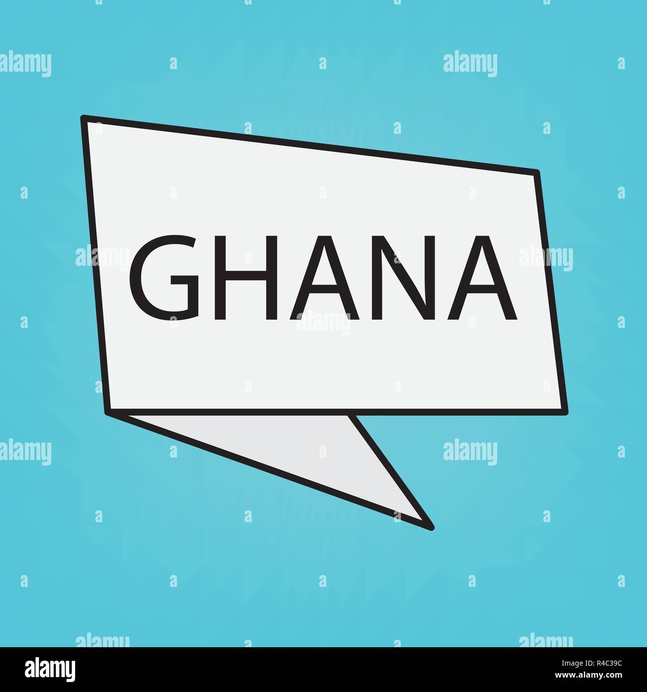 Ghana word on a speech bubble- vector illustration - Stock Vector