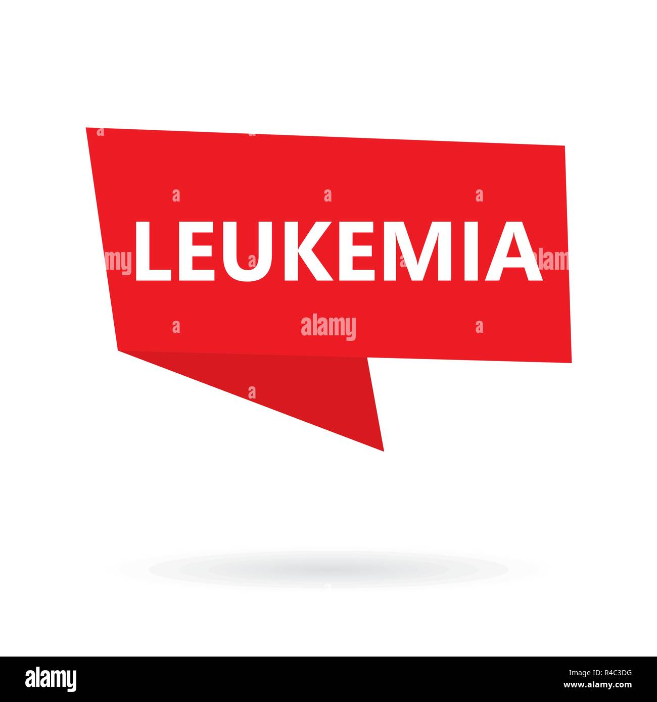 Leukemia word on a speech bubble- vector illustration - Stock Image