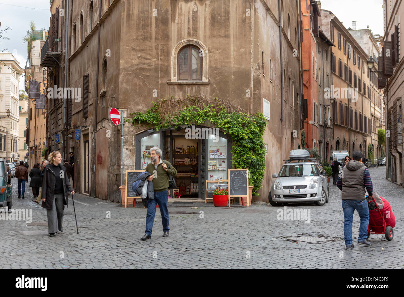 street view Rome city centre - Stock Image