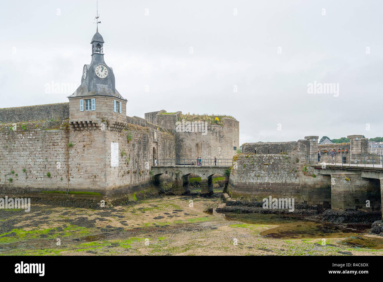 concarneau in brittany - Stock Image