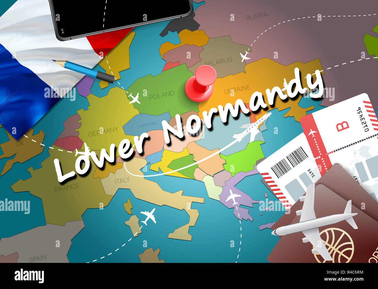 Map Of Lower Normandy Stock Photos Map Of Lower Normandy Stock