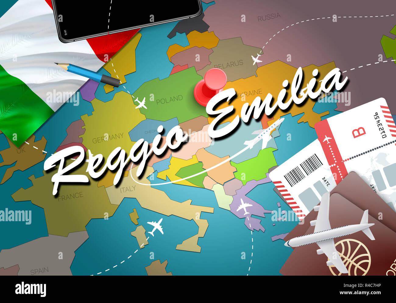 Reggio Emilia City Travel And Tourism Destination Concept Italy
