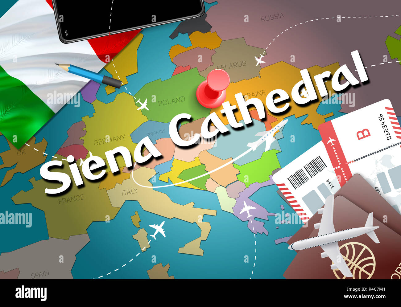 Siena Cathedral City Travel And Tourism Destination Concept Italy