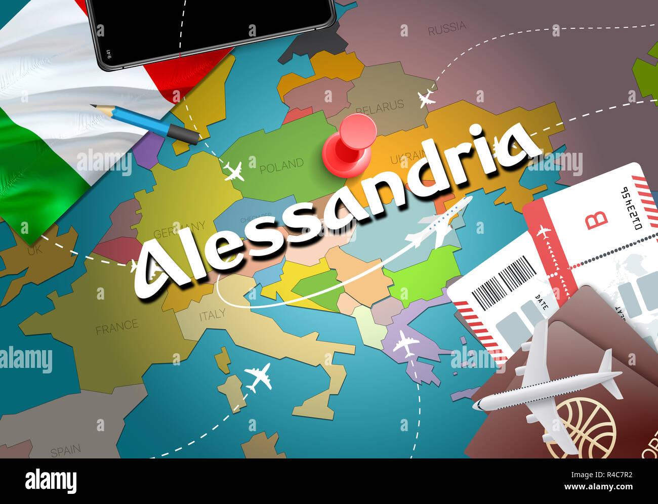Alessandria City Travel And Tourism Destination Concept