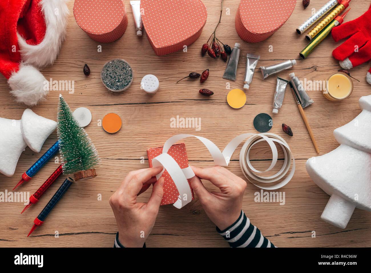 Creative Diy Craft Hobby Woman Making Christmas Gift Presents Top