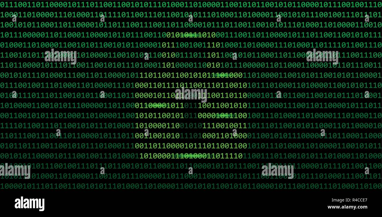 secure web connection binary code with lock background vector illustration EPS10 - Stock Image
