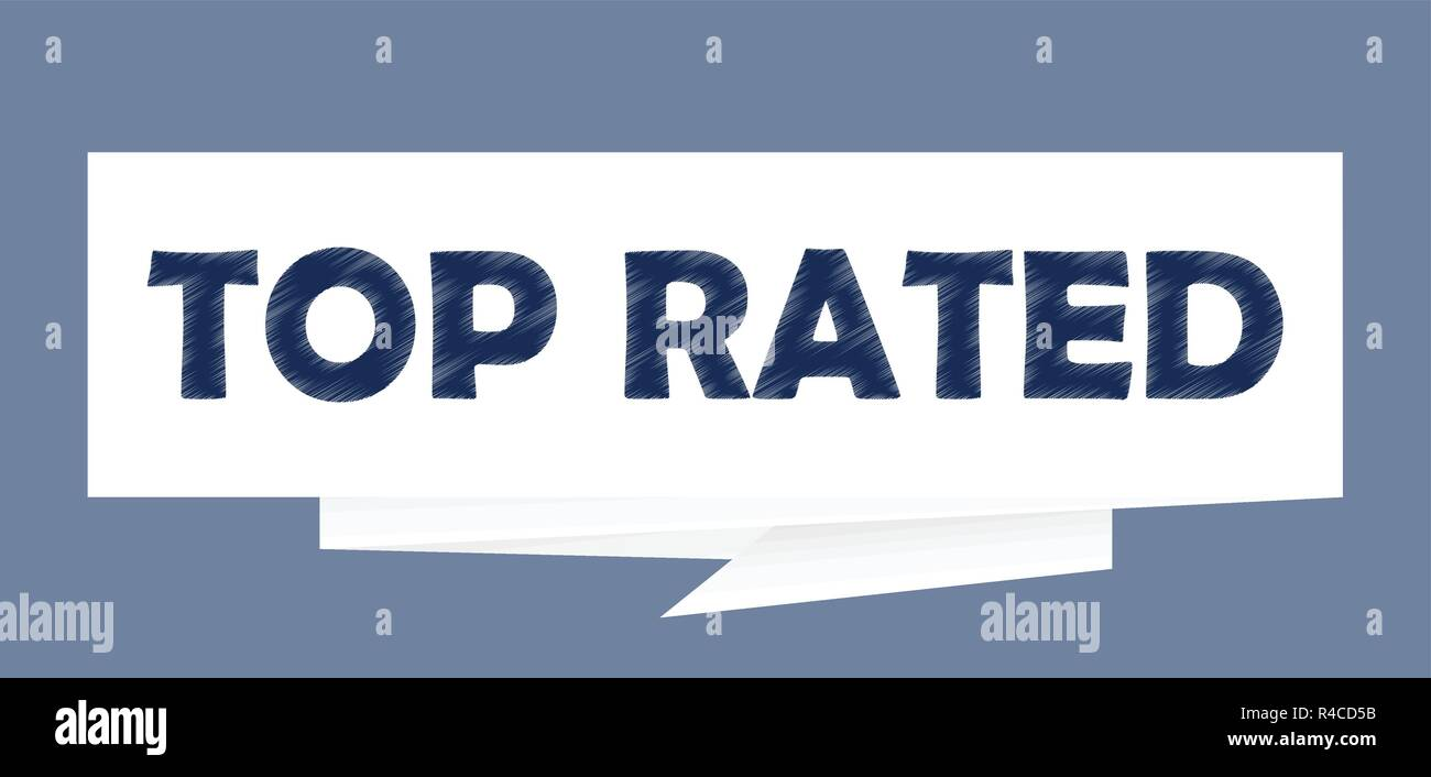 Top rated paper speech bubble sign Vector illustration - Stock Vector