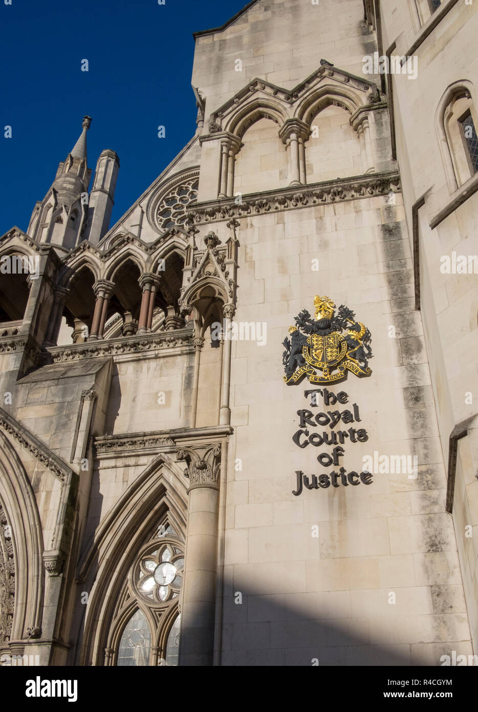 The Royal Courts of Justice, London - Stock Image